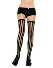 Vertical Stripe Stocking Leg Avenue