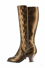 Victoriana Quilted Boots Hades