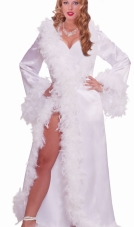 Vintage Marabou Satin Robe Forum Novelties