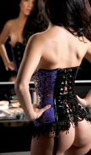 Vinyl And Brocade Giselle Corset