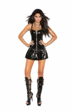 Vinyl Corset Mini Dress