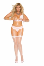 Vinyl Demi Bra with Underwire Cups Elegant Moments