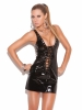 Vinyl Mini Dress That Laces Up The Front and Back Elegant Moments