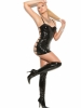 Vinyl Mini Dress with Underwire Cups Elegant Moments