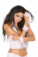 Vinyl Wrist Restraints with Detachable Chain Elegant Moments