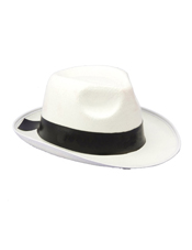 White Gangster Hat Forum Novelties