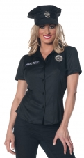 Womens Police Shirt Adult Costume