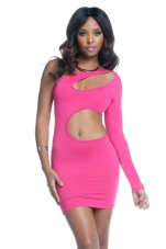 Zahra One Sleeve Cutout Dress Forplay