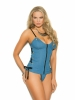 Zip Front Bustier with Side Tie Detail