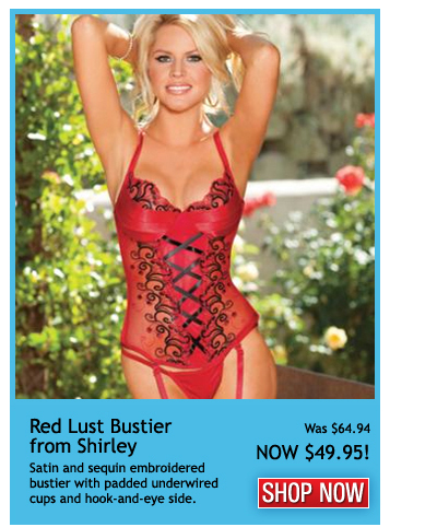 Red Lust Bustier by Shirley