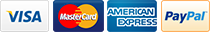 Payment Methods Accepted Amex Mastercard Visa Paypal